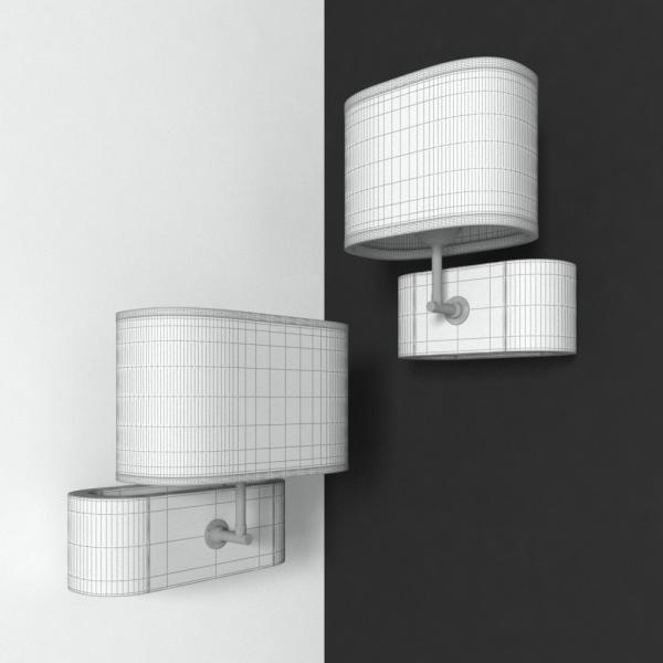 3d модель бра Lussole Nulvi LSF_grid