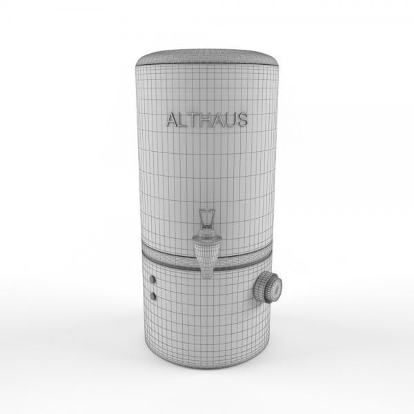 3d модель бойлера Manual Fill Boiler 10_grid