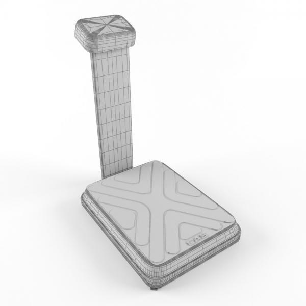 3d модель весов напольных cas dl_grid