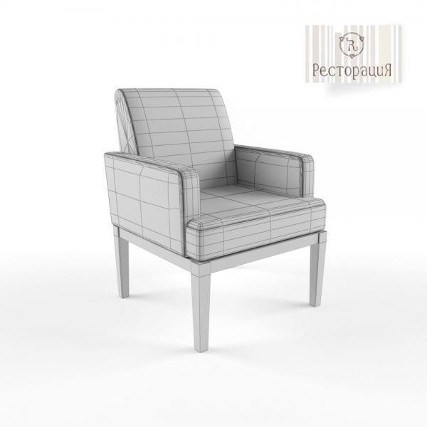 3d модель кресла Агра Ресторация_grid