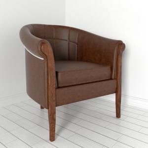 3d модель кресла Hadley Ресторация
