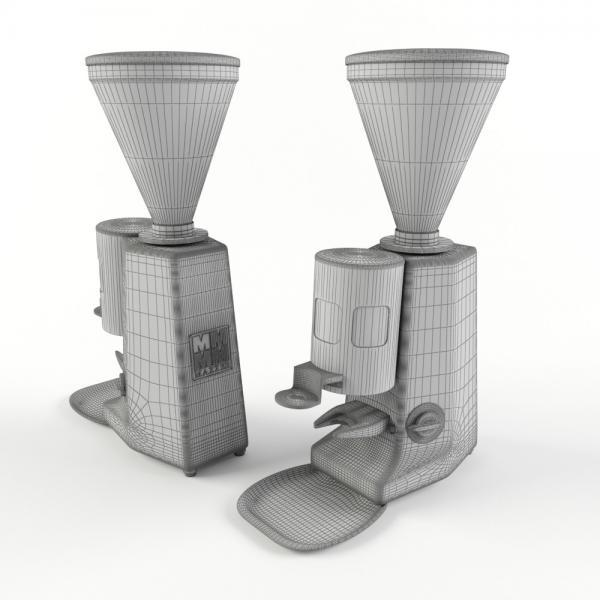 3d модель кофемолки Mazzer Luigi Super Jolly Man_grid