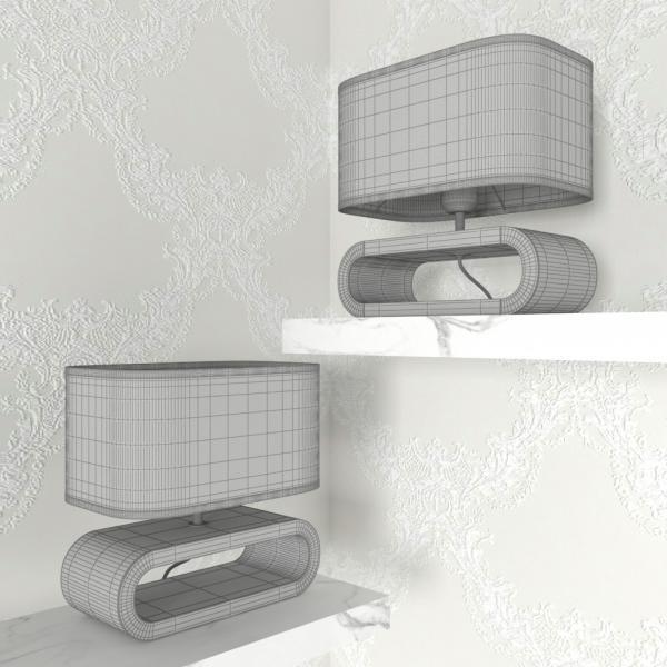 3d модель настольной лампы Lussole Nulvi LSF_grid