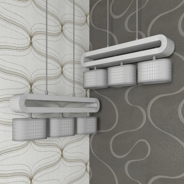 3d модель подвесного светильника Lussole Nulvi LSF_grid