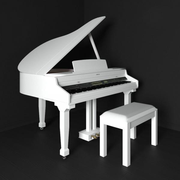 3d модель рояли Orla grand 310 white
