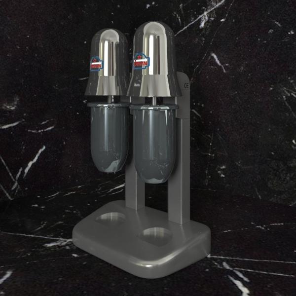 3d модель миксера для молочных коктейлей Sirman Sirio 2 Chrome_1