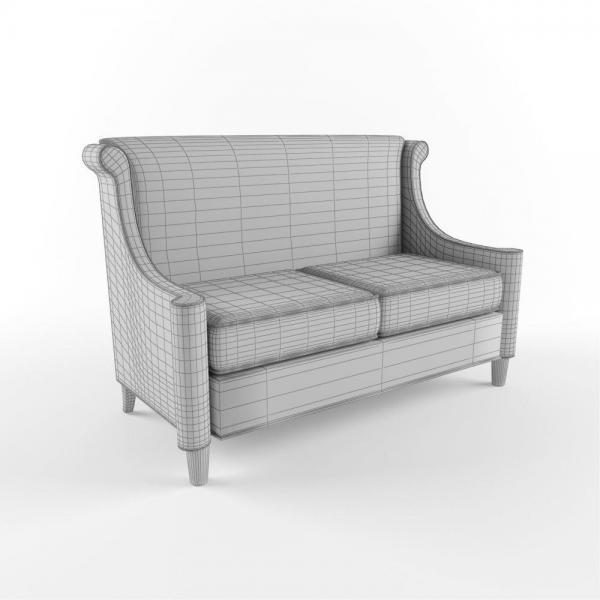 3d модель дивана Мельбурн Ресторация_grid