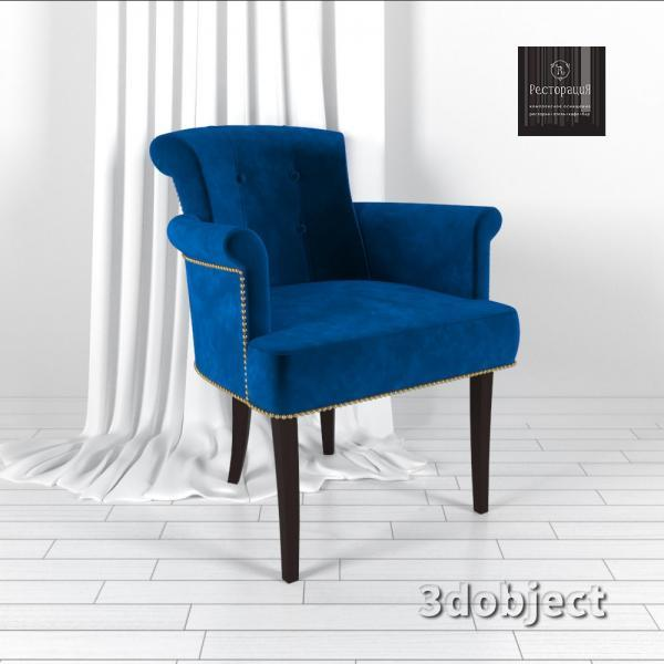 chair Florida_blue_render_3dobject
