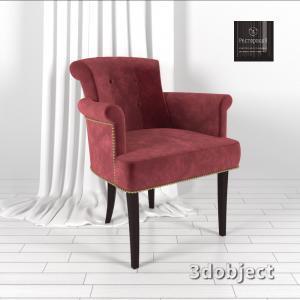 3d модель кресла Флорида ресторация_4