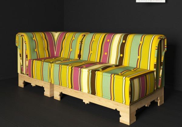 3d модель дивана Маракеш