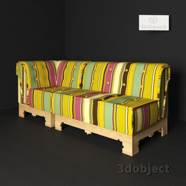 3d модель дивана Маракеш_2