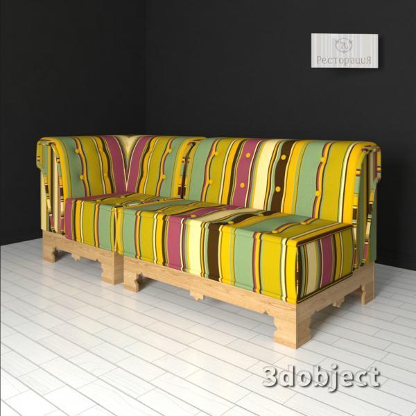 3d модель дивана Маракеш_1