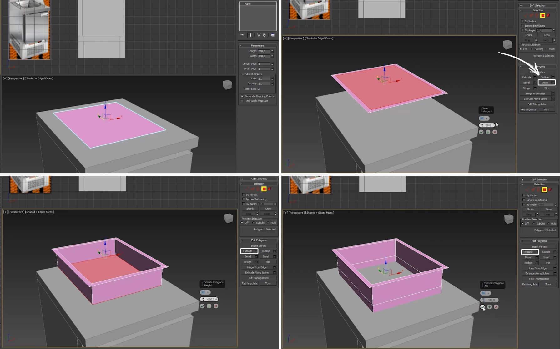 3d моделирование столов холодильных для салатов HiCold