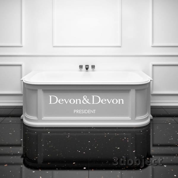 3d модель ванны president devon&devon