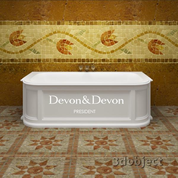 3d модель ванны president devon&devon_1