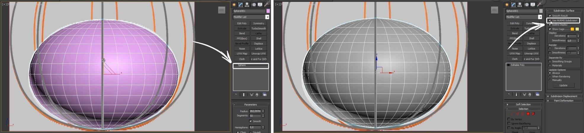 3d моделирование светильника Zero Hoop в 3dsMax