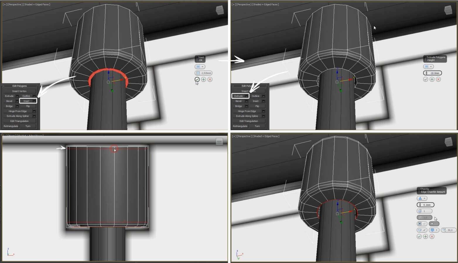 3d моделирование светильника Zero Pomi Trio в 3dsMax