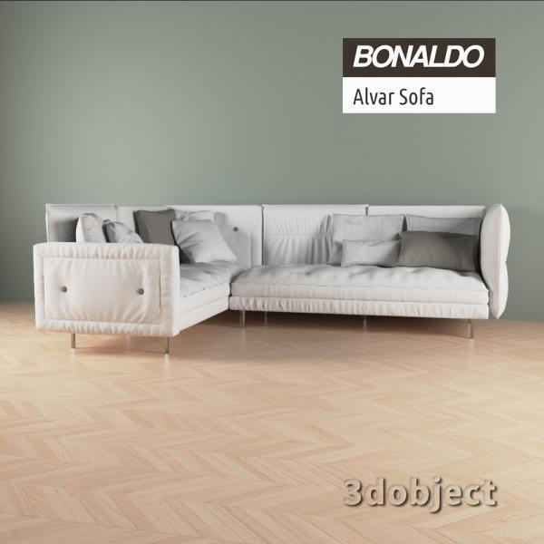 3d модель дивана Bonaldo Alvar_3