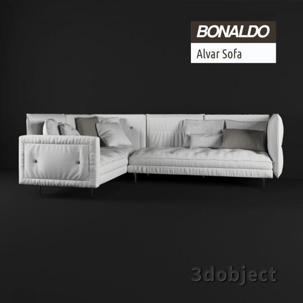 3d модель дивана Bonaldo Alvar_1