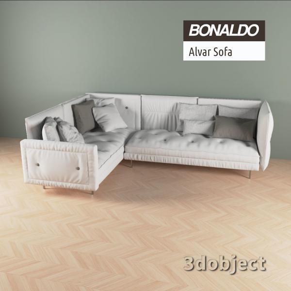 3d модель дивана Bonaldo Alvar_2