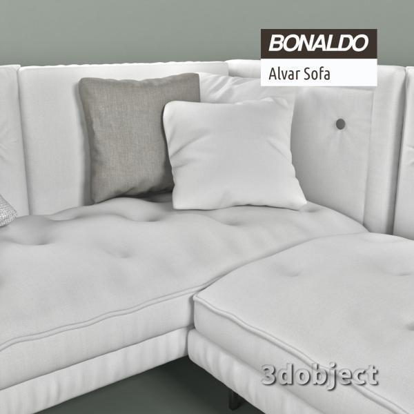 3d модель дивана Bonaldo Alvar Sofa