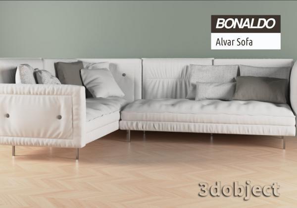 3d модель дивана Bonaldo Alvar