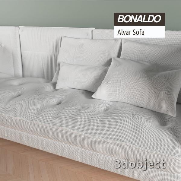 3d модель дивана Bonaldo Alvar_grid