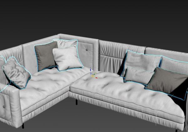 3d моделирование дивана Bonaldo Alvar Sofa в 3dsMax