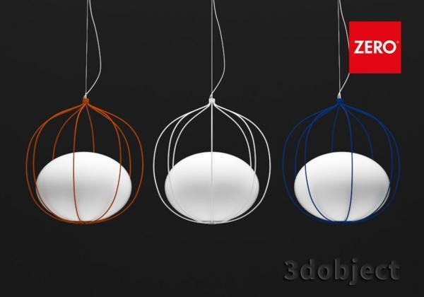 3d моделирование подвесного светильника Zero Hoop