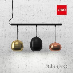 3d модель подвесного светильника Zero Pomi Trio