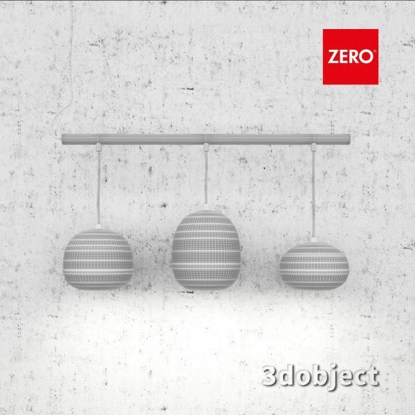3d модель подвесного светильника Zero Pomi Trio_grid