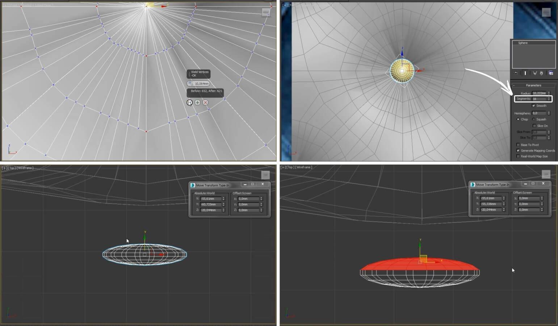 3d моделирование пуфика Pull ресторация в 3dsMax