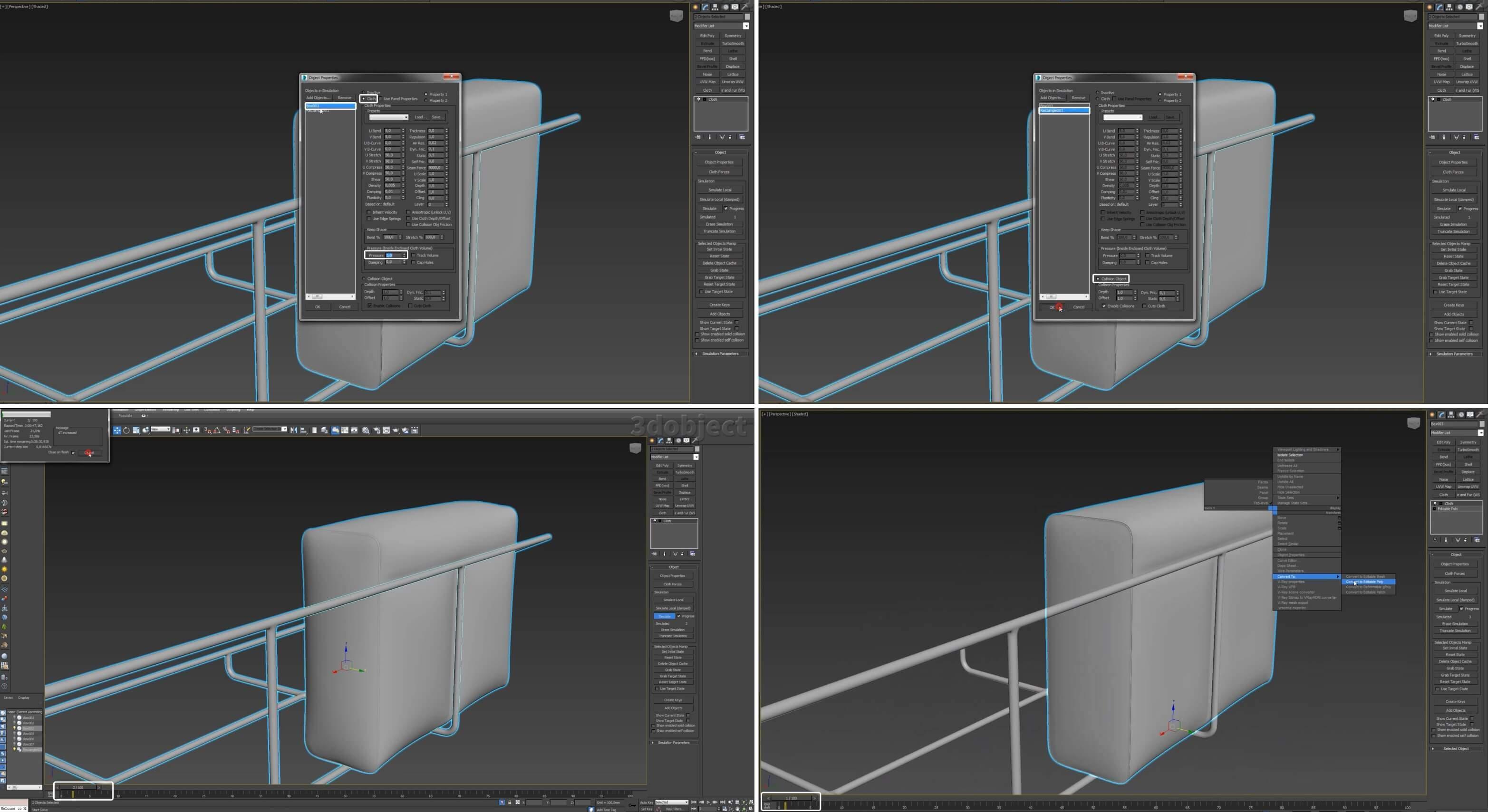 3d моделирование дивана Frame Sofa for munito в 3ds Max
