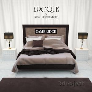 3d модель кровати Epoque Cambridge