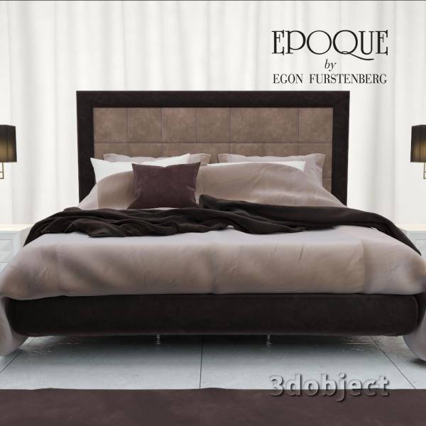 3d модель кровати Epoque Cambridge_2