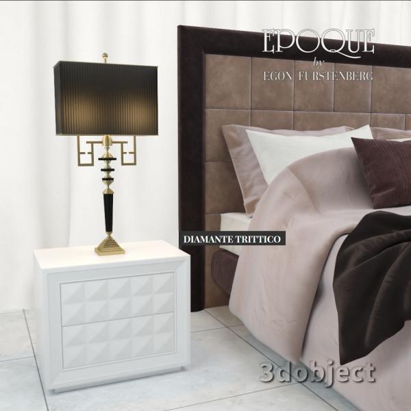 3d модель ночного столика Epoque DIAMANTE TRITTICO