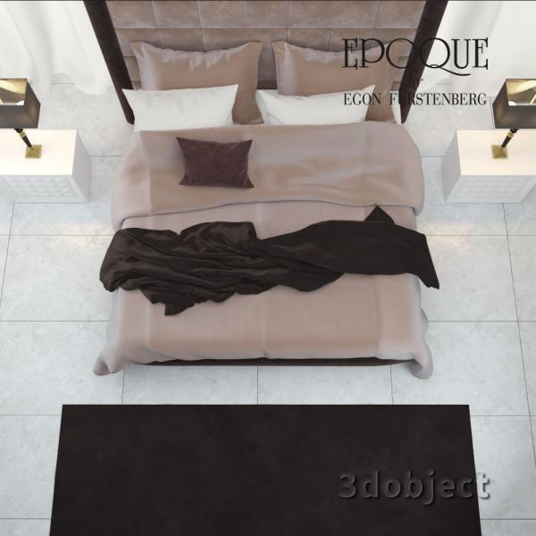 3d модель кровати Epoque Cambridge_3