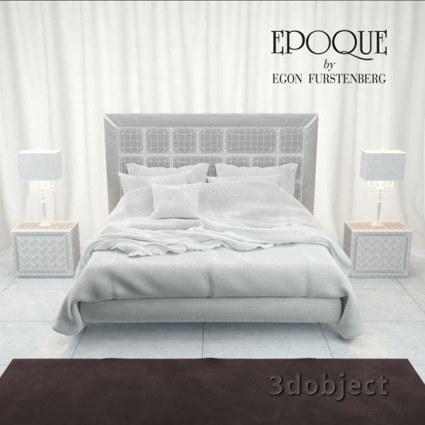 3d модель кровати Epoque Cambridge_grid