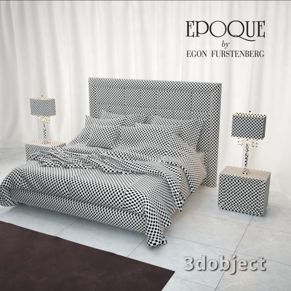 3d модель кровати Epoque Cambridge_unwrap
