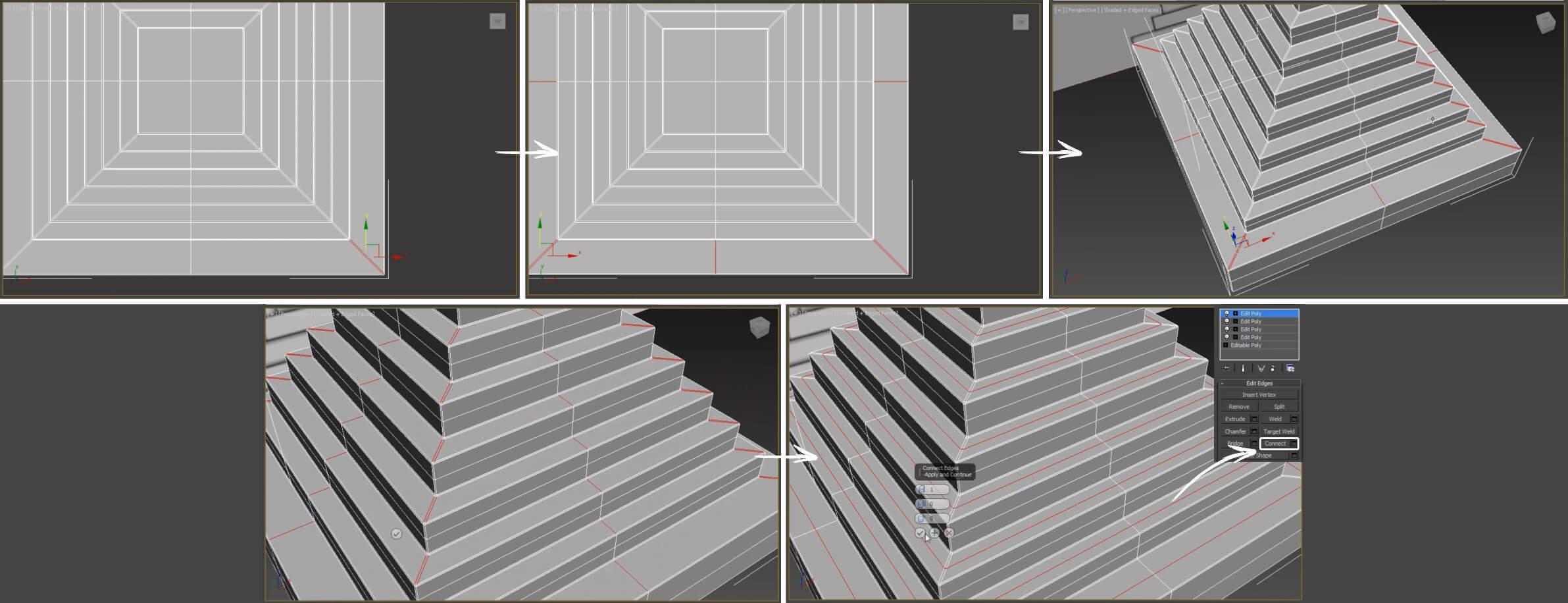 3d моделирование настольной лампы Epoque by Egon Furstenberg в 3ds Max
