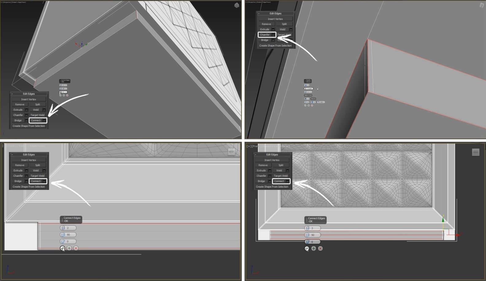 3d моделирование прикроватной тумбы Epoque by Egon Furstenberg в 3ds Max