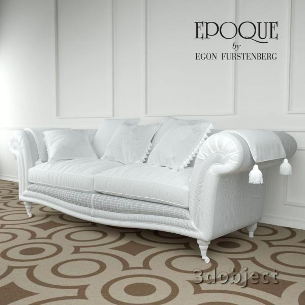 3d модель Epoque sofa Adenia_grid