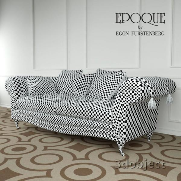 3d модель Epoque sofa Adenia_unwrap