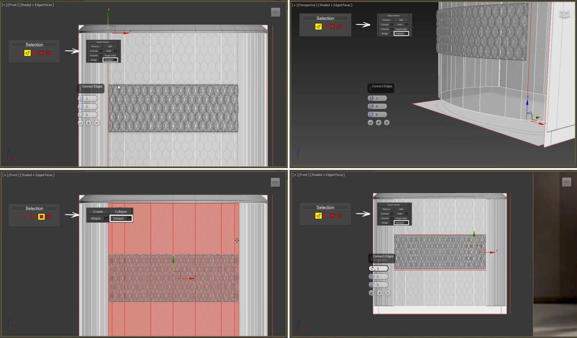 3d моделирование прикроватной тумбы DV home Charlotte в 3dsMax