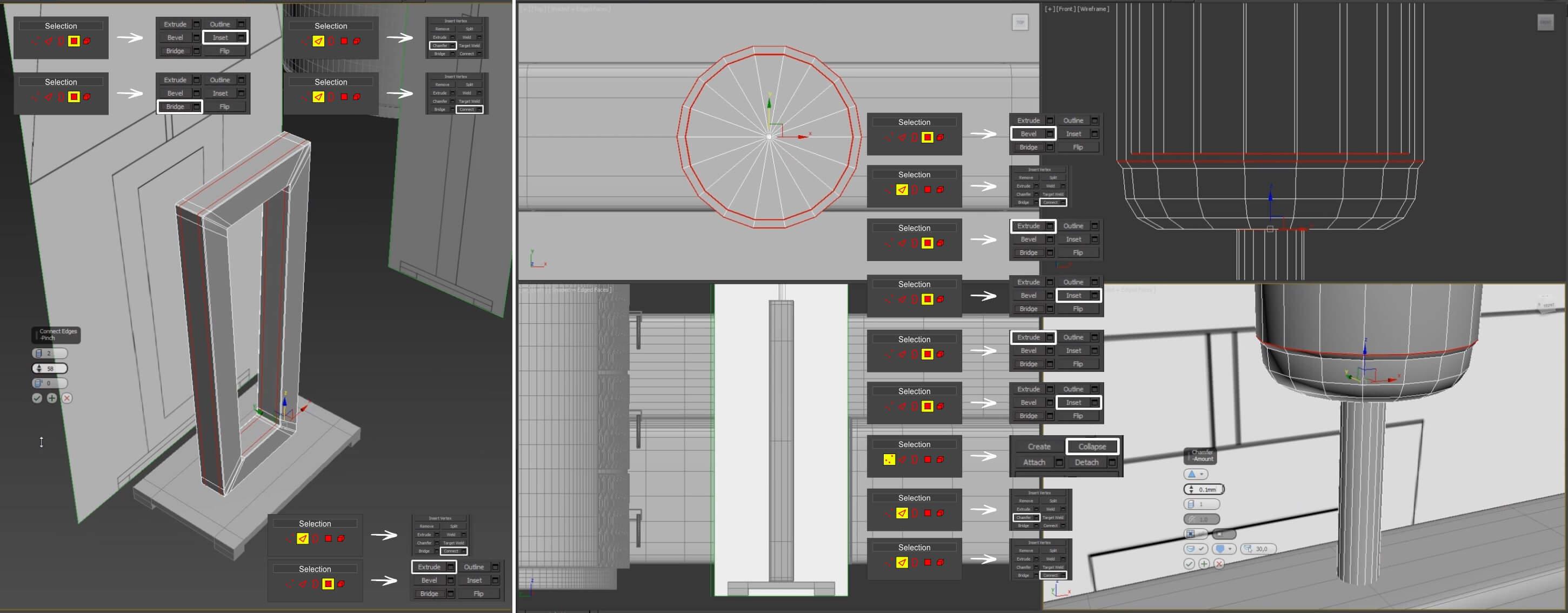 3d моделирование настольной лампы DV home Ritz в 3dsMax