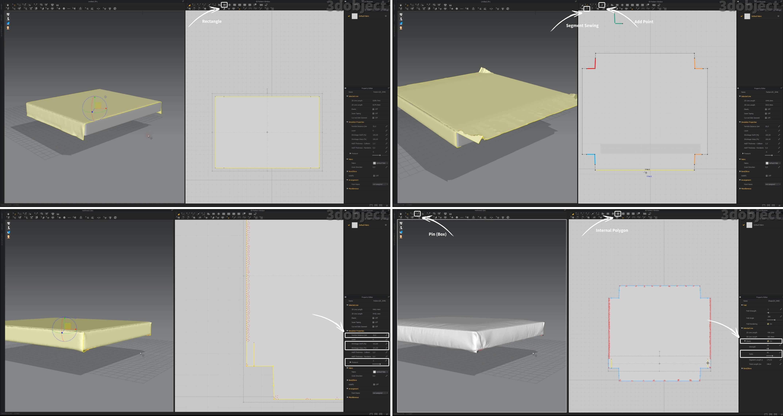 моделирование матраса в Marvelous Designer