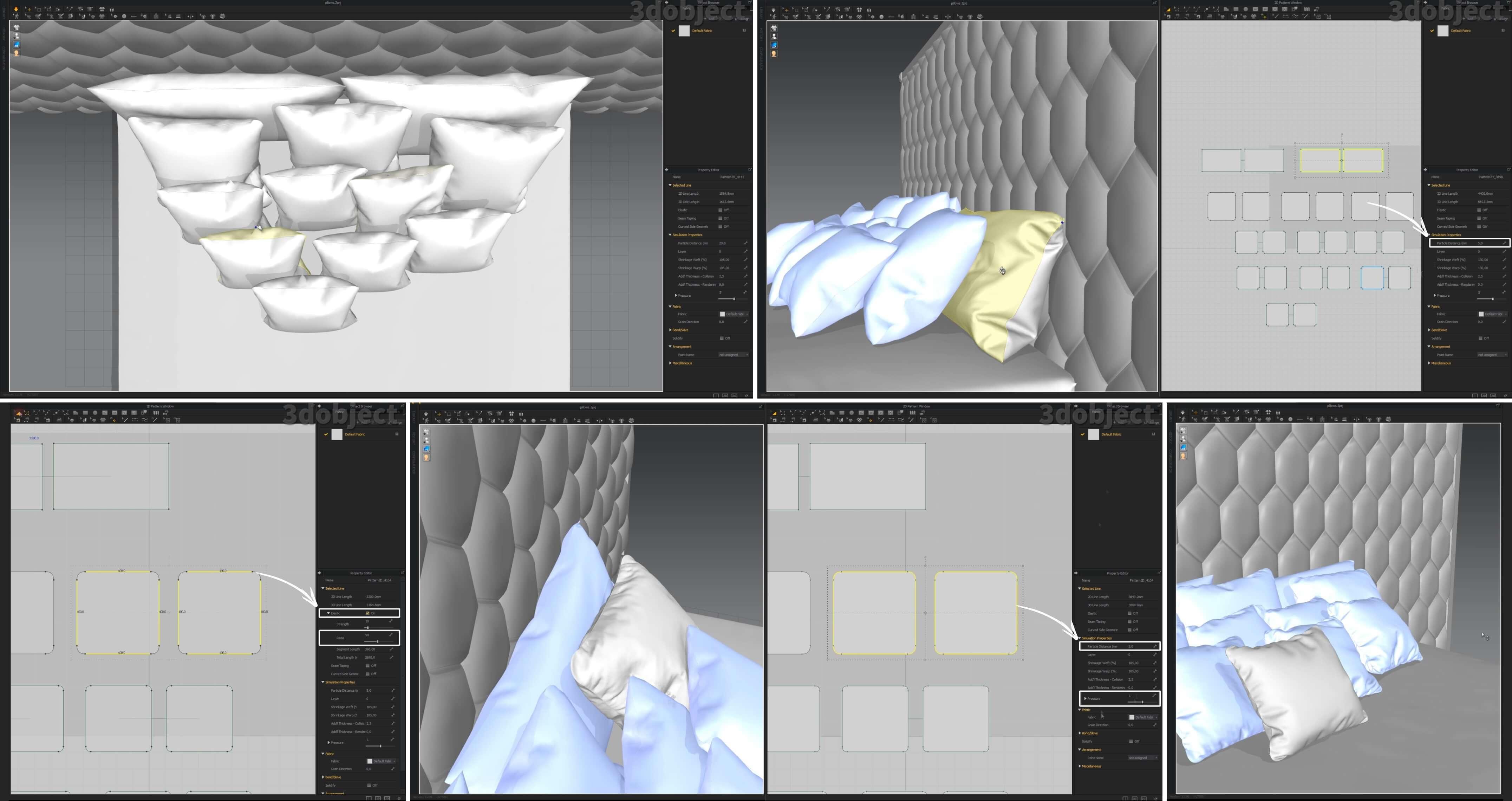 моделирование подушек в Marvelous Designer