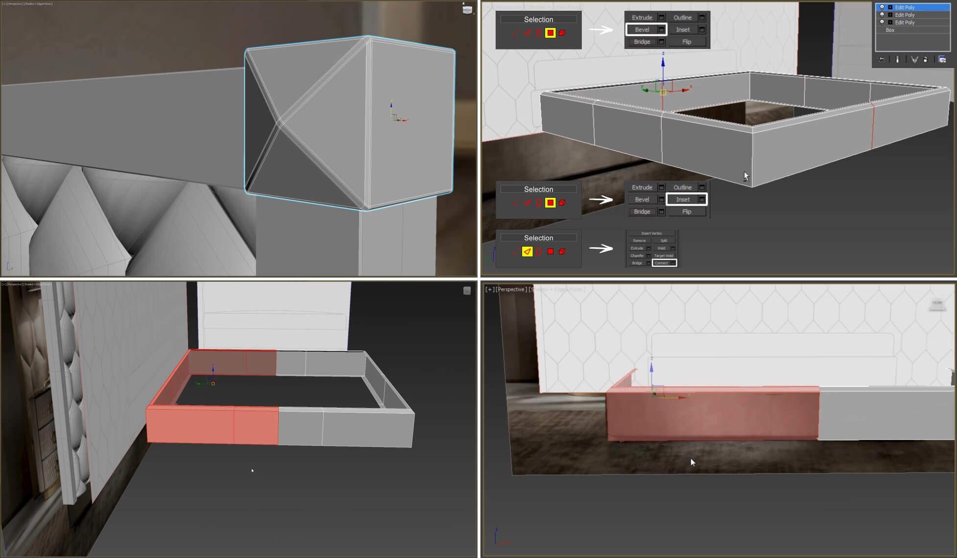 3d моделирование кровати DV home Envy Maxi в 3dsMax