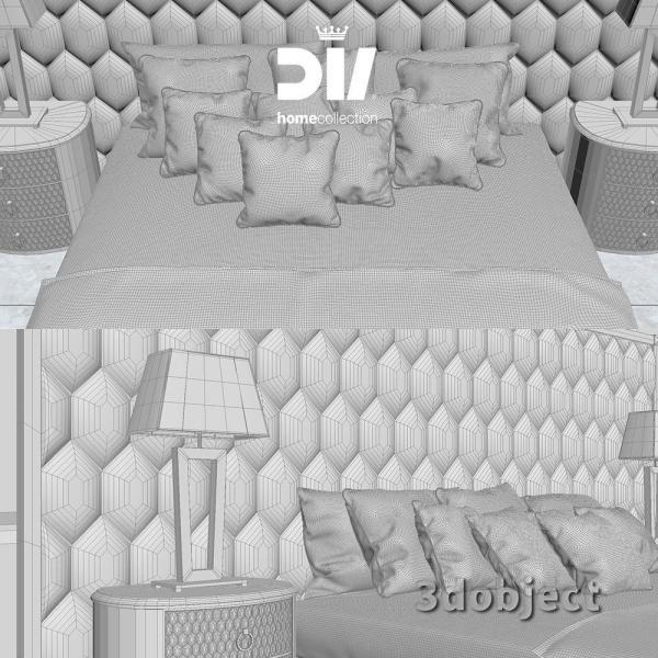 3d модель кровати DV home Envy Maxi_grid