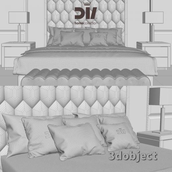 3d модель кровати DV home Envy_grid